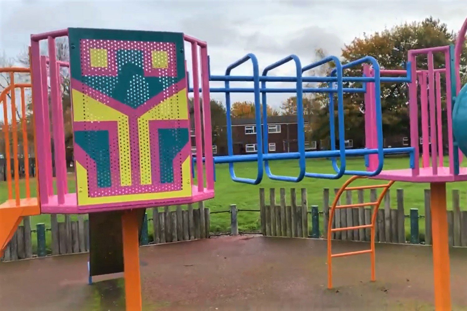 Play equipment and mural